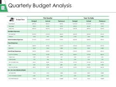 Quarterly Budget Analysis Ppt PowerPoint Presentation Gallery Pictures