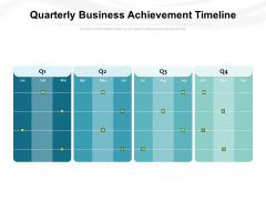 Quarterly Business Achievement Timeline Ppt PowerPoint Presentation Outline Visual Aids PDF
