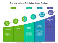 Quarterly Business Agile Online Change Roadmap Brochure