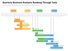 Quarterly Business Analysis Roadmap Through Tools Infographics