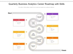Quarterly Business Analytics Career Roadmap With Skills Themes