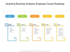 Quarterly Business Analytics Employee Career Roadmap Graphics