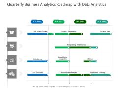 Quarterly Business Analytics Roadmap With Data Analytics Brochure