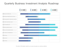 Quarterly Business Investment Analysis Roadmap Sample