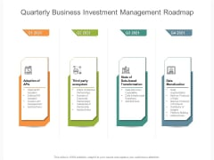 Quarterly Business Investment Management Roadmap Professional