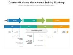 Quarterly Business Management Training Roadmap Sample