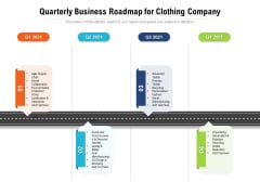 Quarterly Business Roadmap For Clothing Company Diagrams