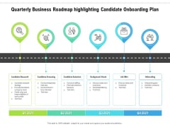 Quarterly Business Roadmap Highlighting Candidate Onboarding Plan Clipart