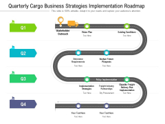 Quarterly Cargo Business Strategies Implementation Roadmap Portrait