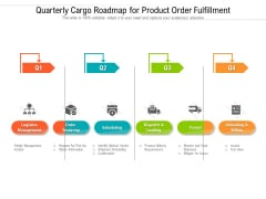 Quarterly Cargo Roadmap For Product Order Fulfillment Clipart