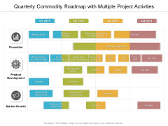 Quarterly Commodity Roadmap With Multiple Project Activities Guidelines