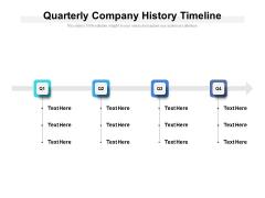 Quarterly Company History Timeline Ppt PowerPoint Presentation Outline Portfolio PDF