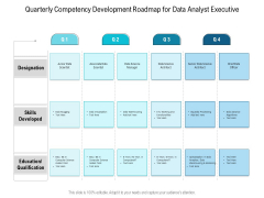Quarterly Competency Development Roadmap For Data Analyst Executive Pictures
