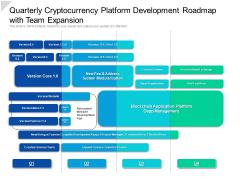 Quarterly Cryptocurrency Platform Development Roadmap With Team Expansion Portrait