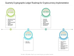 Quarterly Cryptographic Ledger Roadmap For Cryptocurrency Implementation Sample