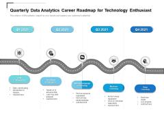 Quarterly Data Analytics Career Roadmap For Technology Enthusiast Professional