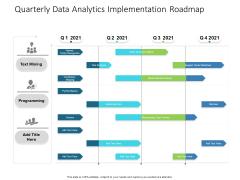Quarterly Data Analytics Implementation Roadmap Pictures