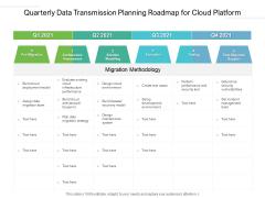 Quarterly Data Transmission Planning Roadmap For Cloud Platform Demonstration
