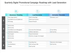 Quarterly Digital Promotional Campaign Roadmap With Lead Generation Guidelines
