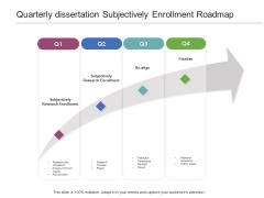 Quarterly Dissertation Subjectively Enrollment Roadmap Summary