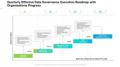 Quarterly Effective Data Governance Execution Roadmap With Organizations Progress Professional