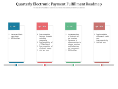 Quarterly Electronic Payment Fulfillment Roadmap Themes