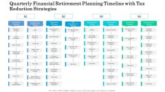 Quarterly Financial Retirement Planning Timeline With Tax Reduction Strategies Microsoft