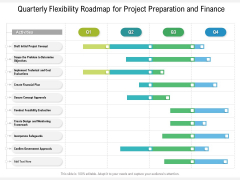 Quarterly Flexibility Roadmap For Project Preparation And Finance Diagrams