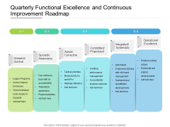 Quarterly Functional Excellence And Continuous Improvement Roadmap Background