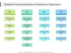 Quarterly Functional Excellence Roadmap For Organization Diagrams