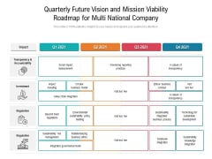 Quarterly Future Vision And Mission Viability Roadmap For Multi National Company Rules