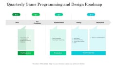 Quarterly Game Programming And Design Roadmap Guidelines