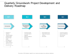 Quarterly Groundwork Project Development And Delivery Roadmap Sample