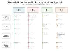 Quarterly House Ownership Roadmap With Loan Approval Background
