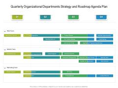 Quarterly Organizational Departments Strategy And Roadmap Agenda Plan Professional