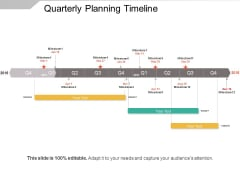 Quarterly Planning Timeline Ppt PowerPoint Presentation Gallery Structure