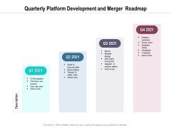 Quarterly Platform Development And Merger Roadmap Brochure