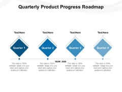Quarterly Product Progress Roadmap Ppt PowerPoint Presentation Gallery Sample PDF