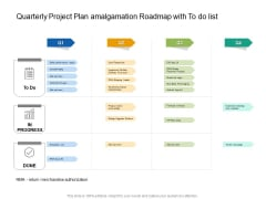 Quarterly Project Plan Amalgamation Roadmap With To Do List Template