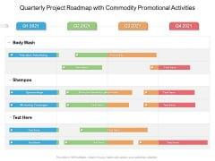 Quarterly Project Roadmap With Commodity Promotional Activities Portrait