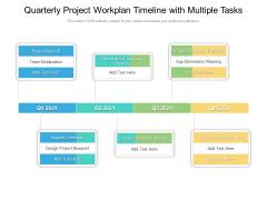 Quarterly Project Workplan Timeline With Multiple Tasks Download