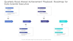 Quarterly Road Ahead Achievement Playbook Roadmap For Data Scientist Executive Diagrams