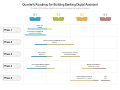 Quarterly Roadmap For Building Banking Digital Assistant Guidelines