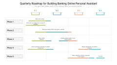 Quarterly Roadmap For Building Banking Online Personal Assistant Summary