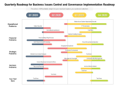 Quarterly Roadmap For Business Issues Control And Governance Implementation Roadmap Background