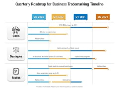 Quarterly Roadmap For Business Trademarking Timeline Slides