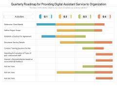 Quarterly Roadmap For Providing Digital Assistant Service To Organization Inspiration