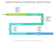 Quarterly Roadmap For Revamping Service Proposal Inspiration