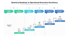 Quarterly Roadmap To Operational Execution Excellency Mockup