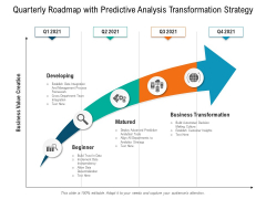 Quarterly Roadmap With Predictive Analysis Transformation Strategy Summary